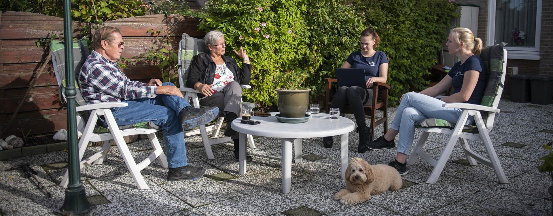 Ergotherapiepraktijk Stip Buiten in de tuin